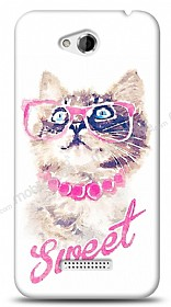 Dafoni HTC Desire 616 Sweet Cat K�l�f