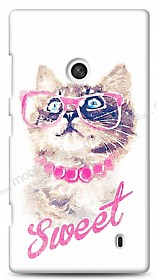 Nokia Lumia 520 / 525 Sweet Cat Kılıf