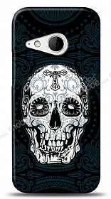 Dafoni HTC One mini 2 Black Skull Kılıf