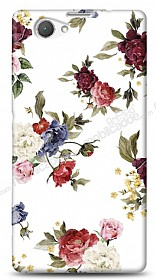 Dafoni Sony Xperia Z1 Compact Vintage Flowers K�l�f