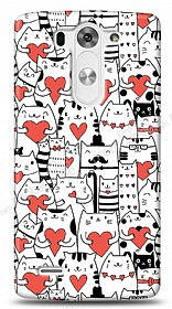 Dafoni LG G3 S / G3 Beat Love Cats K�l�f