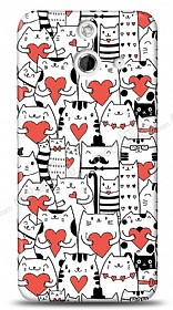 Dafoni HTC One E8 Love Cats K�l�f