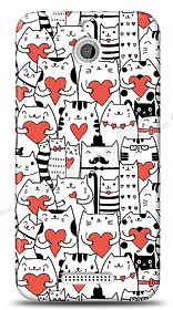 Dafoni HTC Desire 510 Love Cats K�l�f