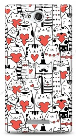 Sony Xperia C Love Cats Kılıf