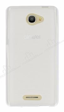 Alcatel POP 4S (5.5) Şeffaf Beyaz Silikon Kılıf