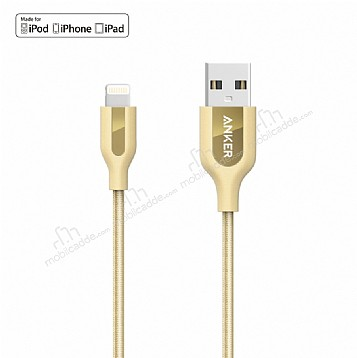 ANKER Powerline Lightning Gold Örgülü Data Kablosu 90cm