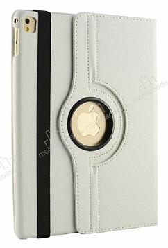 Apple iPad Pro 10.5 360 Derece Döner Standlı Beyaz Deri Kılıf