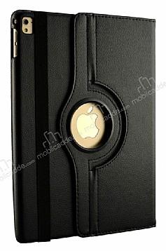 Apple iPad Pro 10.5 360 Derece Döner Standlı Siyah Deri Kılıf
