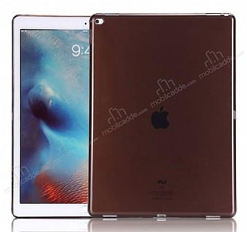Apple iPad Pro 12.9 Ultra İnce Şeffaf Siyah Silikon Kılıf