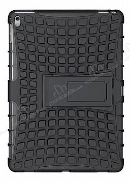Apple iPad Pro 9.7 Ultra Süper Koruma Standlı Siyah Kılıf