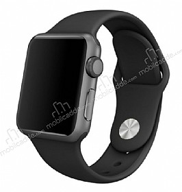 Apple Watch Siyah Silikon Kordon (38 mm)