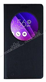 Asus ZenFone 2 İnce Yan Kapaklı Uyku Modlu Siyah Kılıf