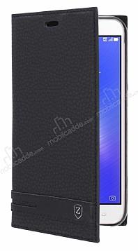 Asus ZenFone 3 Max ZC553KL Gizli Mıknatıslı Yan Kapaklı Siyah Deri Kılıf