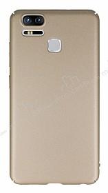 Asus ZenFone 3 Zoom Tam Kenar Koruma Gold Rubber Kılıf