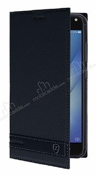 Asus Zenfone 4 Max ZC554KL Gizli Mıknatıslı Standlı Siyah Deri Kılıf