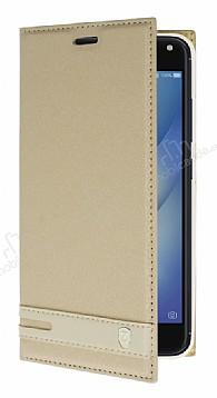 Asus Zenfone 4 Max ZC554KL Gizli Mıknatıslı Standlı Gold Deri Kılıf
