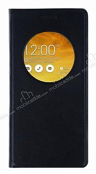 Asus Zenfone 5 Pencereli İnce Kapaklı Siyah Kılıf