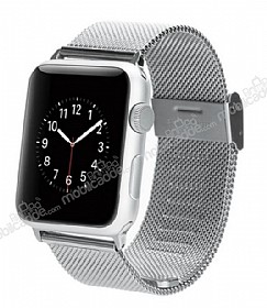 Baseus Apple Watch Milanese Loop Orjinal Silver Metal Kordon (38 mm)