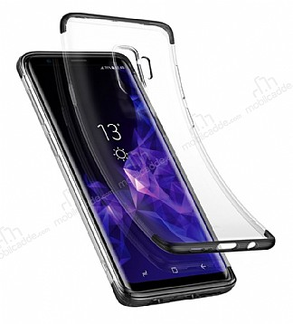 Baseus Armor Samsung Galaxy S9 Siyah Kenarlı Ultra Koruma Kılıf