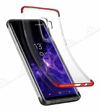 Baseus Armor Samsung Galaxy S9 Plus Kırmızı Kenarlı Ultra Koruma Kılıf