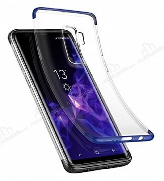 Baseus Armor Samsung Galaxy S9 Plus Lacivert Kenarlı Ultra Koruma Kılıf
