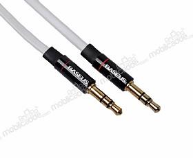 Baseus Auxiliary 3.5mm Beyaz Aux Kablo 1m