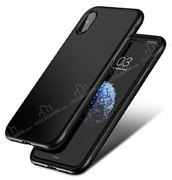 Baseus Bumper iPhone X Siyah Kenarlı Silikon Kılıf