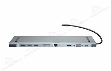 Baseus Enjoyment Multi Fonksiyonel Silver Type-C Notebook Hub Adaptör