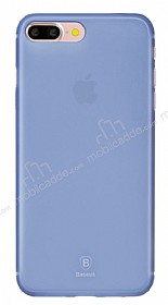 Baseus Frosting iPhone 7 Plus Ultra İnce Dark Blue Rubber Kılıf