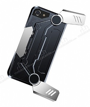 Baseus Gamepad iPhone 7 / 8 Standlı Silver Oyun Kılıfı