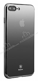Baseus Glass iPhone 7 Plus / 8 Plus Siyah Rubber Kılıf