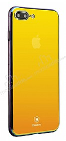 Baseus Glass iPhone 7 Plus / 8 Plus Sarı Rubber Kılıf