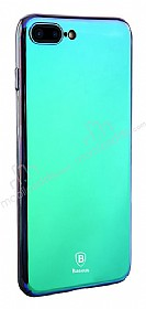 Baseus Glass iPhone 7 Plus / 8 Plus Mavi Rubber Kılıf