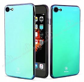 Baseus Glass iPhone 7 / 8 Mavi Rubber Kılıf