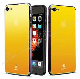 Baseus Glass iPhone 7 Sarı Rubber Kılıf