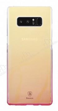 Baseus Glaze Samsung Galaxy Note 8 Pembe Rubber Kılıf