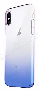Baseus Glaze iPhone X Mor Rubber Kılıf
