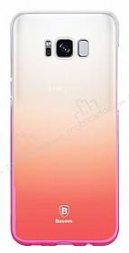 Baseus Glaze Samsung Galaxy S8 Pembe Rubber Kılıf