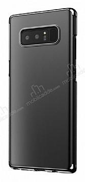 Baseus Glitter Samsung Galaxy Note 8 Tam Kenar Koruma Siyah Rubber Kılıf