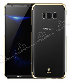 Baseus Glitter Samsung Galaxy S8 Plus Tam Kenar Koruma Gold Rubber Kılıf