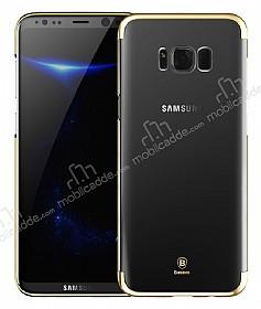 Baseus Glitter Samsung Galaxy S8 Tam Kenar Koruma Gold Rubber Kılıf