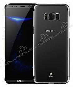 Baseus Glitter Samsung Galaxy S8 Tam Kenar Koruma Siyah Rubber Kılıf