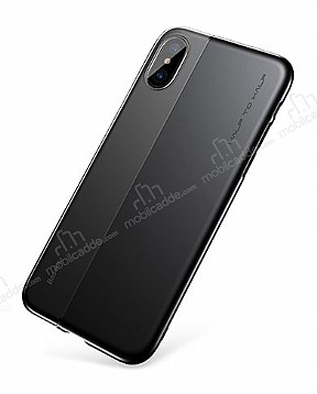 Baseus Half to Half iPhone X Siyah Silikon Kılıf