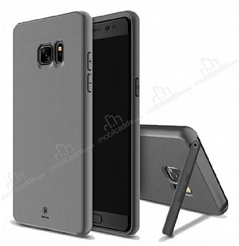 Baseus Hidden Bracket Samsung Galaxy Note FE Gri Standlı Rubber Kılıf