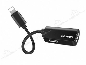 Baseus L37 Lightning Giriş Çoğaltıcı Lightning Siyah Adaptör 10cm