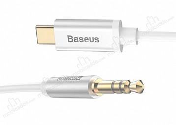 Baseus M01 Type-C Silver Aux Kablo 1.20m