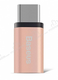 Baseus Micro USB to USB Type-C Rose Gold D�n��t�r�c� Adapt�r