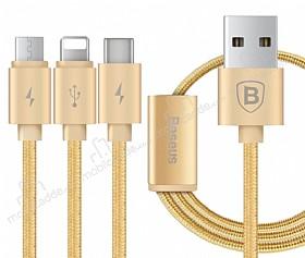 Baseus Portman Series 3 in 1 Gold Data Kablosu 1,20m