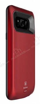 Baseus Samsung Galaxy S8 Plus 5500 mAh Bataryalı Kırmızı Kılıf