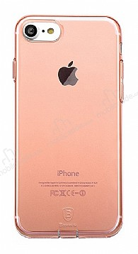 Baseus Simple Series iPhone 7 / 8 Şeffaf Rose Gold Silikon Kılıf